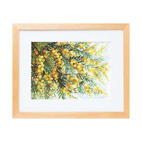 Olympusクロス刺繍キット7178「ミモザの咲く丘」