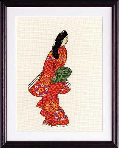 菱川師宣画Olympusクロス刺繍キット7184「見返り美人図」
