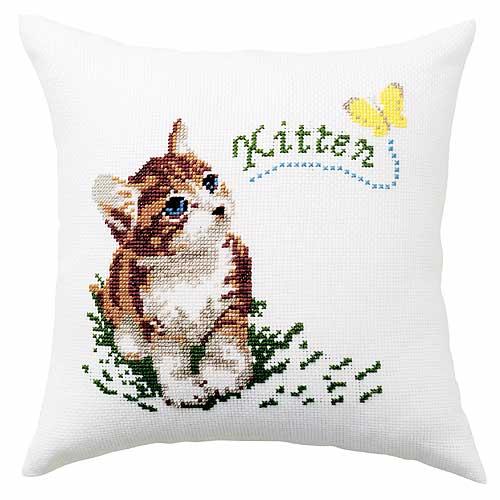 Olympusクロス刺繍キット6009「子猫と蝶」