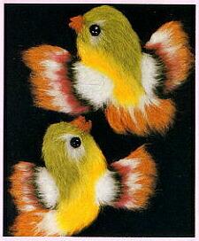 東京文化刺繍キット758「小鳥」(1号額付)