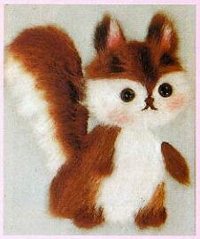 東京文化刺繍キット761「こりす」(1号額付)