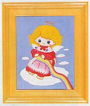 東京文化刺繍キット710「あみもの」(1号額付)