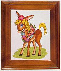 東京文化刺繍キット705「ポニー」(1号額付)