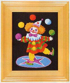 東京文化刺繍キット707「ピエロ」(1号額付)