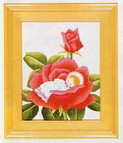 東京文化刺繍キット706「バラのゆりかご」(1号額付)