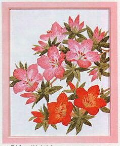 東京文化刺繍キット713「サツキ」(1号額付)