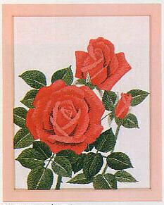 東京文化刺繍キット714「ばら」(1号額付)