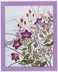 東京文化刺繍キット715「秋草」(1号額付)