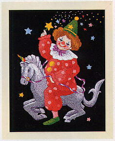 東京文化刺繍キット716「星のピエロ」(1号額付)