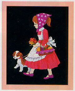 東京文化刺繍キット765「お買い物」(1号額付)