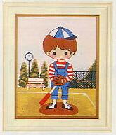 東京文化刺繍キット788「野球」(1号額付)