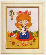 東京文化刺繍キット789「気球」(1号額付)