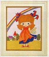 東京文化刺繍キット790「虹」(1号額付)