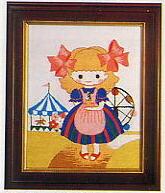 東京文化刺繍キット791「遊園地」(1号額付)