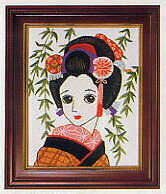 東京文化刺繍キット796「柳」(1号額付)