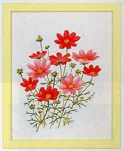 東京文化刺繍キット741「コスモス」(1号額付)