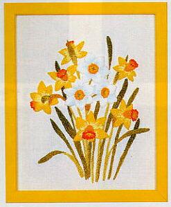 東京文化刺繍キット745「水仙」(1号額付)