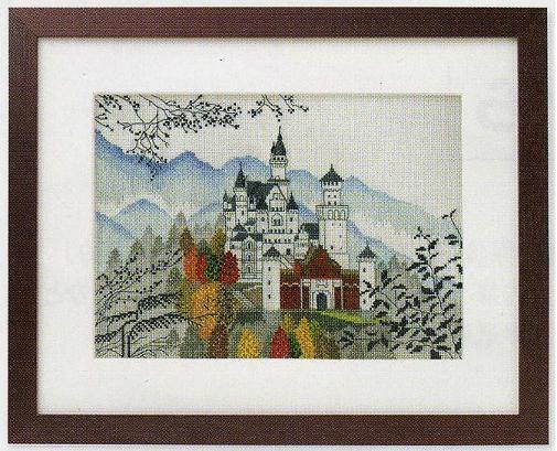 世界遺産と世界の風景からOlympusクロス刺繍キット7208「ノイシュバンシュタイン」