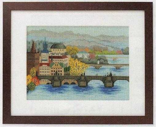 世界遺産と世界の風景からOlympusクロス刺繍キット7210「カレル橋」
