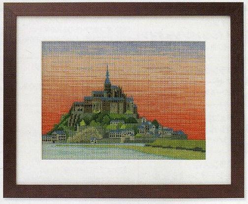 世界遺産と世界の風景からOlympusクロス刺繍キット7211「モン・サン・ミシェル」