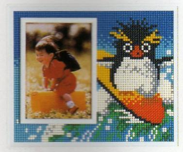 スキルフォトスタンドキットPS520「イワトビペンギン」