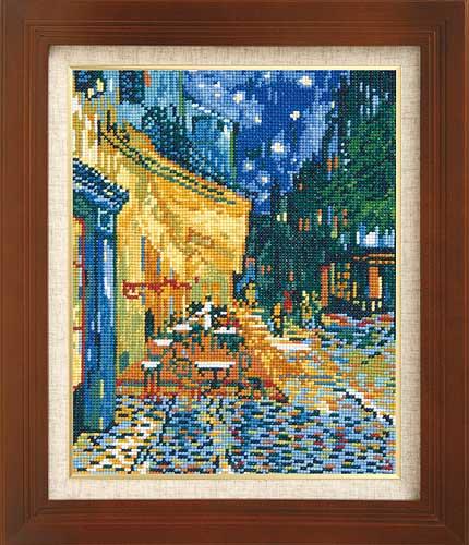 Olympusクロス刺繍キット7214「夜のカフェテラス」(ゴッホ作)