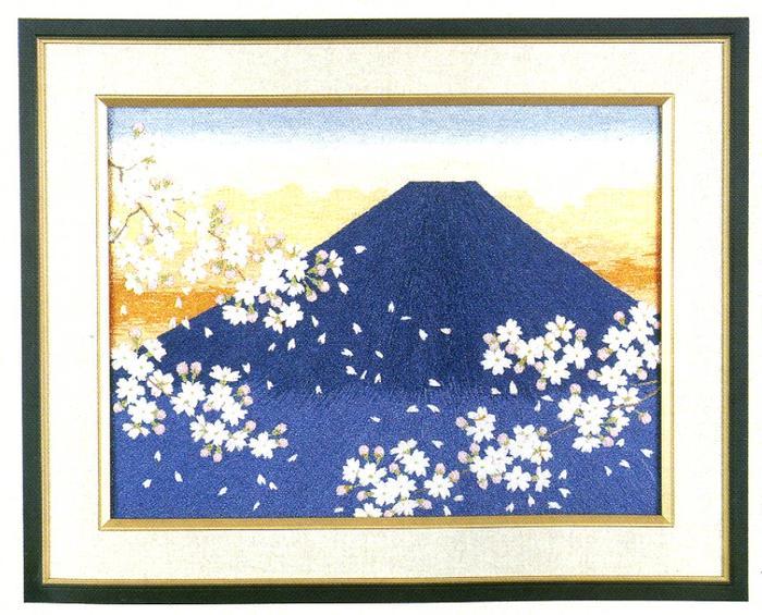 東京文化刺繍キット31「あけぼの富士」(3号)