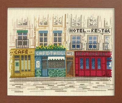 中田全怡子デザイン 心に残る風景 想い出の街並Olympusクロス刺繍キット7261「パリの街並」