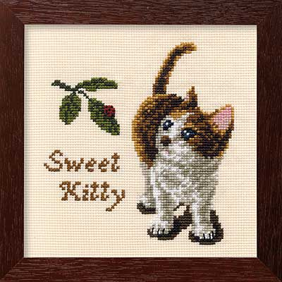 Olympusクロス刺繍キット7275「かわいい子猫」 DOGS & CATS