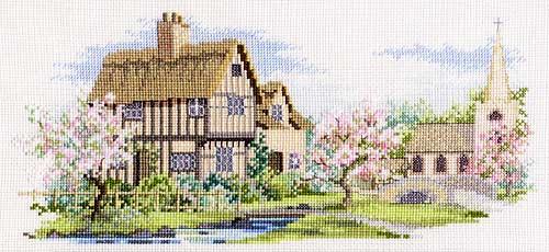 ダーウェントウォーター・デザイン「レーンシリーズOlympusクロス刺繍キット7294 「ブロッサム レーン」 Blossom Lane