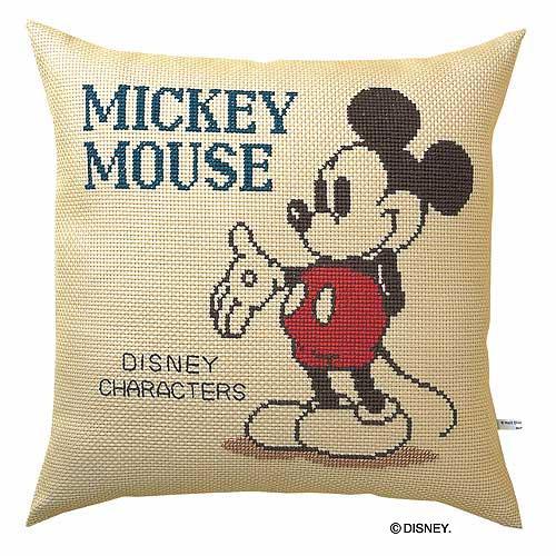 Olympusクロス刺繍キット5881「ミッキーマウス」 ディズニー クッション 40cm角 Mickey Mouse , cDisney