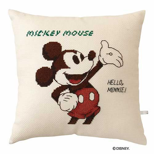 Olympusクロス刺繍キット6032「ミッキーマウス」 ディズニー クッション 40cm角 MICKEY MOUSE , cDisney
