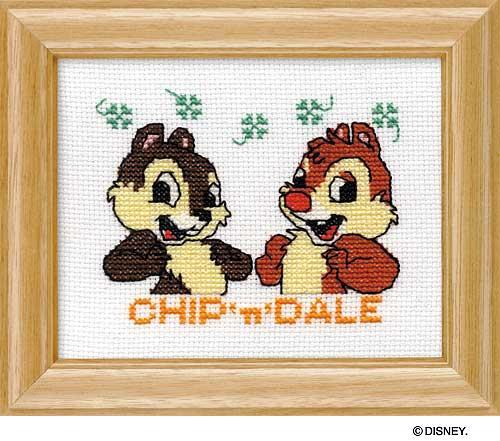 Olympusクロス刺繍キット7236「チップ&デール」(額付) ディズニー CHIP 'n' DALE , cDisney