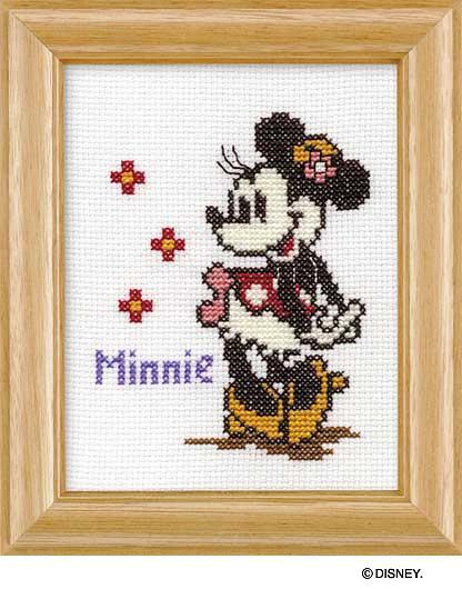 Olympusクロス刺繍キット7235「ミニーマウス」(額付) ディズニー MINNIE MOUSE , cDisney