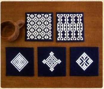 Olympus「こぎん」刺繍キット13 「コースター (紺)」