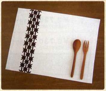 Olympus「こぎん」刺繍キット14 「ランチョンマット (ベージュ)」