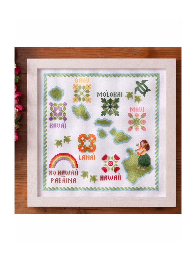 コスモ クロスステッチ刺繍キット7865 「ハワイ諸島」 Aloha Stitch シリーズ Cosmo LECIEN ルシアン