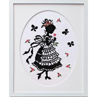 Olympusクロスステッチ刺繍キット7382「花占い」 オリムパス オノエ・メグミの少女のステッチ