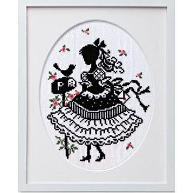 Olympusクロスステッチ刺繍キット7383「手紙」 オリムパス オノエ・メグミの少女のステッチ