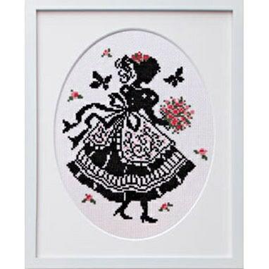 Olympusクロスステッチ刺繍キット7384「花束」 オリムパス オノエ・メグミの少女のステッチ