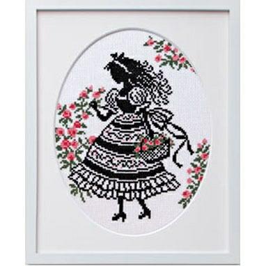 Olympusクロスステッチ刺繍キット7385「花かご」 オリムパス オノエ・メグミの少女のステッチ