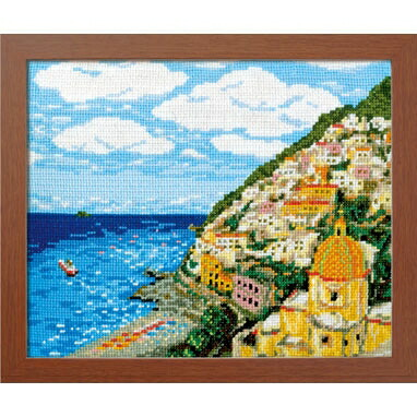 Olympusクロスステッチ刺繍キット7437 「アマルフィ海岸」 (イタリア) オリムパス 一度は訪れたい世界の名所
