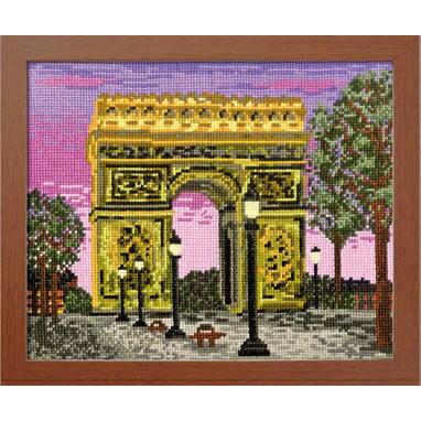 Olympusクロスステッチ刺繍キット7439 「パリの凱旋門」 (フランス) オリムパス 一度は訪れたい世界の名所