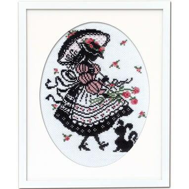 Olympusクロスステッチ刺繍キット7453「バフスリーブのドレス」赤毛のアンの物語 オリムパス オノエ・メグミ シルエットシリーズ シルエットで描く愛らしいししゅうの世界