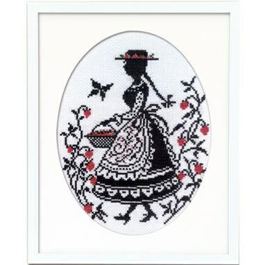 Olympusクロスステッチ刺繍キット7454「いちご摘み」赤毛のアンの物語 オリムパス オノエ・メグミ シルエットシリーズ シルエットで描く愛らしいししゅうの世界