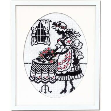 Olympusクロスステッチ刺繍キット7456「お茶の時間」赤毛のアンの物語 オリムパス オノエ・メグミ シルエットシリーズ シルエットで描く愛らしいししゅうの世界