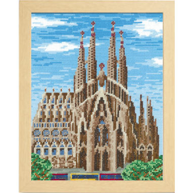 Olympusクロスステッチ刺繍キット7474 「サグラダファミリア」 (スペイン バルセロナ)