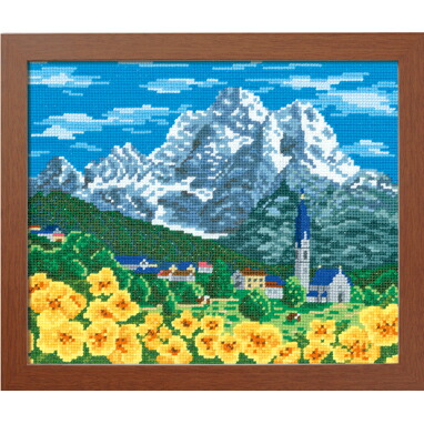 Olympusクロスステッチ刺繍キット7476「アルプスの山並み」(スイス)