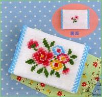 Romantic Embroidery Olympusクロスステッチ刺繍キットno.9006「お花のカードケース」 ロマンティック エンブロイダリー