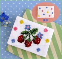 Romantic Embroidery Olympusクロスステッチ刺繍キットno.9007「イチゴのカードケース」 ロマンティック エンブロイダリー